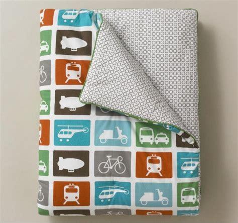 Transportation Toddler Bedding by Dwell Studio Transportation Multi Play Blanket