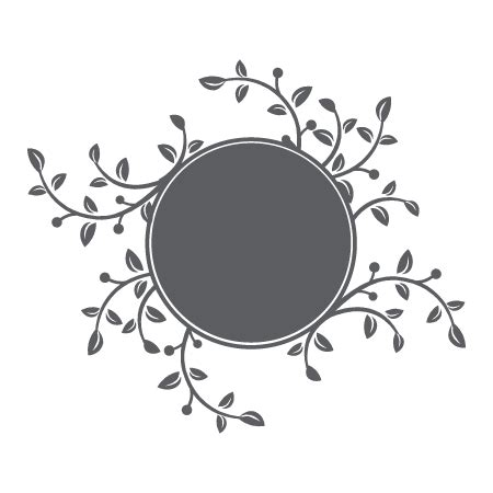chalkboard circle  branches leaves wall quotes art decal wallquotescom