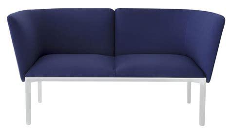 ADD Straight sofa   2 seats   L 140 cm Dark Blue / White