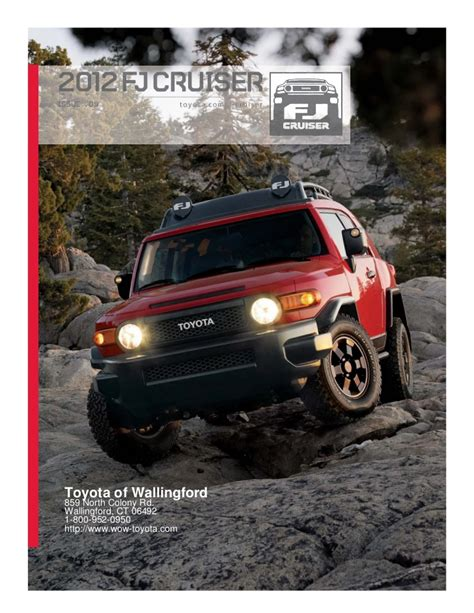 Toyota Of Wallingford Ct by 2012 Toyota Fj Cruiser For Sale Ct Toyota Dealer Serving