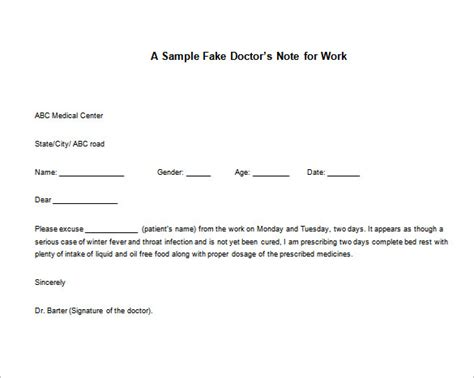 dr note template for work emergency room work excuse dtk templates