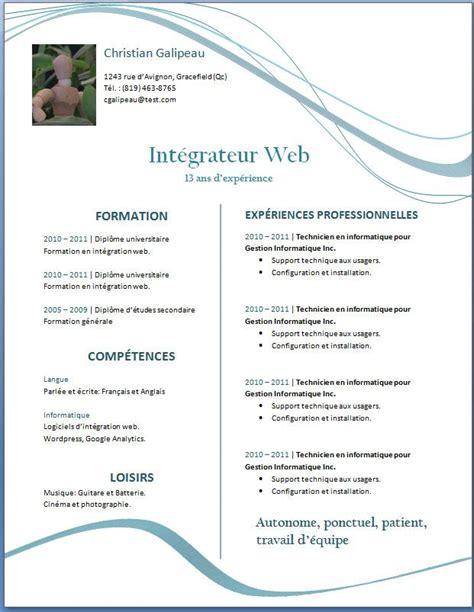 Cv A Telecharger Gratuit by 50 Exemples De Cv Curriculum Vitae Gratuits 224