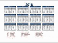 2018 Accounting Calendar 454 Free Printable Templates