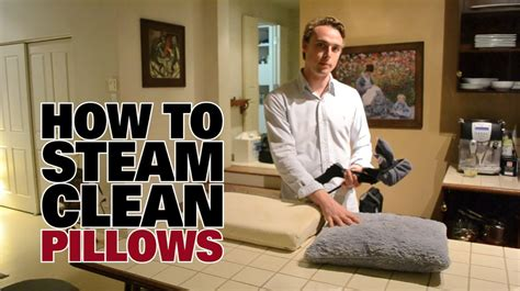 how to clean bed pillows how to steam clean pillows dupray steam cleaners