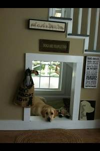 I love this under stair indoor quotdog housequot its out of the for Indoor dog house ideas