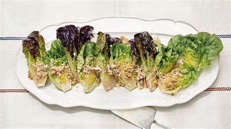 gem lettuce  walnut vinaigrette