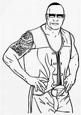 Wwe Coloring Pages Wrestling Entertainment Line Drawing sketch template