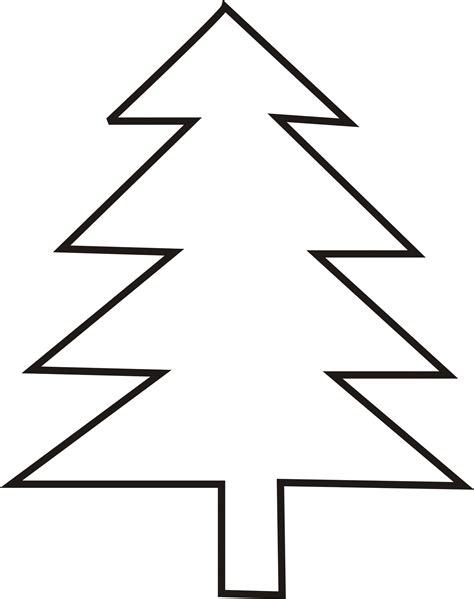 christmas tree outlines cliparts co