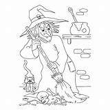 Coloring Pages Halloween Hag Evil Sheet sketch template