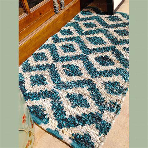 vintage   turquoise antiskid bathroom rug