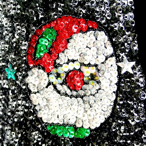 richard simmons blingy bedazzled sequin santa christmas