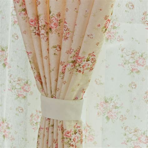 small floral print rustic curtain fabric finished product