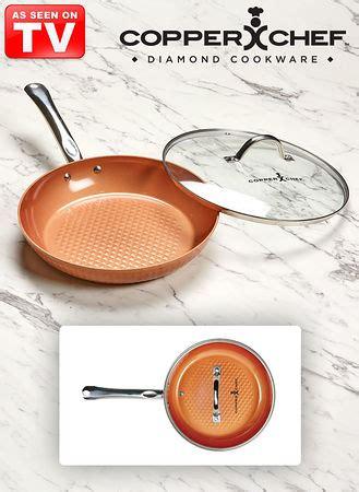 copper chef diamond pan    lid amerimark