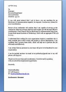 application letter for job With cover letter for electronics engineer job application