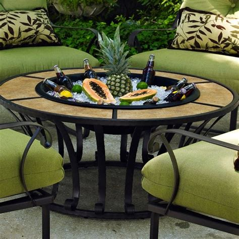 patio tables with pit modern patio outdoor