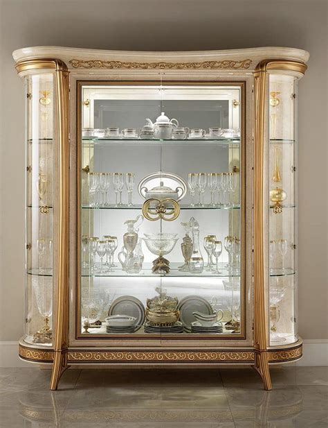 sala da pranzo classica vetrina classica con 1 o 2 ante per sala da pranzo in