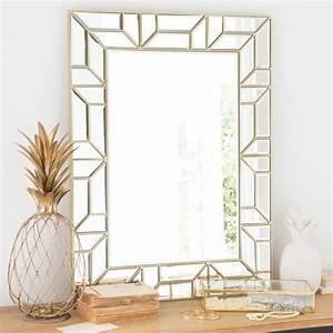 Grand Miroir Maison Du Monde : espejo gr fico dorado 60x80 cm dianneespejo gr fico dorado ~ Nature-et-papiers.com Idées de Décoration