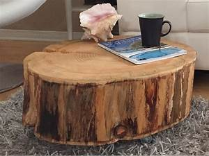 tree trunk coffee table derektime design great idea With coffee table made from tree trunk