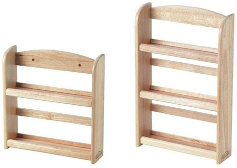 2 Tier/3 Tier Wooden Spice Rack Herb Storage Holder Wall
