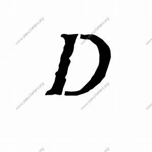 antique italic uppercase lowercase letter stencils a z 1 With antique letter stencils