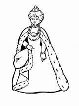 Queen Coloring Printable Bright Colors Favorite sketch template