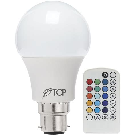color changing light bulb tcp led l bulb classic gls colour changing with remote