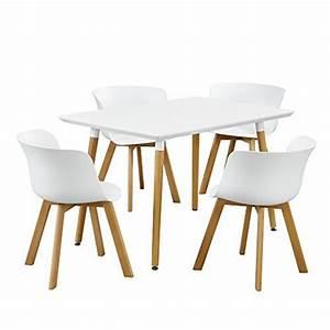 Esstisch Mit Stühlen Weiß : essgruppe esstisch mit 4 st hlen design wei 120x80cm retro stuhl ~ Bigdaddyawards.com Haus und Dekorationen