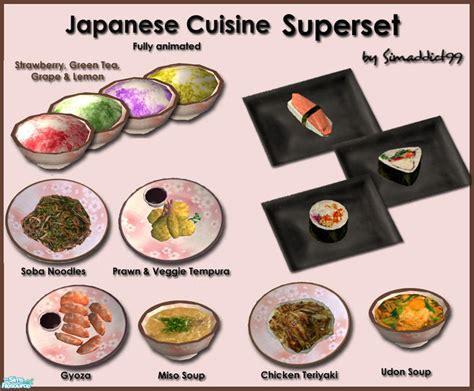 sims 3 cuisine simaddict99 39 s japanese cuisine superset