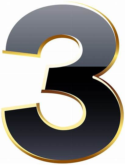 Number Transparent Three Numbers Clipart Yopriceville