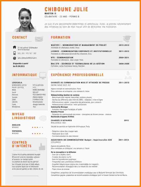 Présentation De Cv by Comment Pr 233 Senter Un Cv Exemple Id 233 E Pr 233 Sentation Cv
