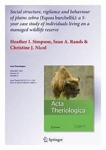 (PDF) Social structure, vigilance and behaviour of plains ...