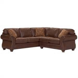 broyhill laramie faux leather sectional sofa in distressed brown 5080 4q 5 traditional