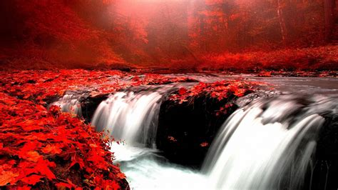amazing autumn waterfall hd wallpapers