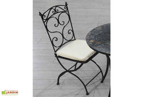 chaise en fer forgé de jardin chaise jardin pliante fer forgé coussin dcb garden
