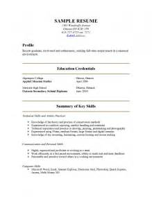 About Me Resume Exles by How To Write About Me In A Resume Resume Template Exle