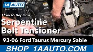 How To Replace Serpentine Belt Tensioner 93
