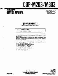 Sony Cdp-m203  Cdp-m303  Serv Man2  Service Manual