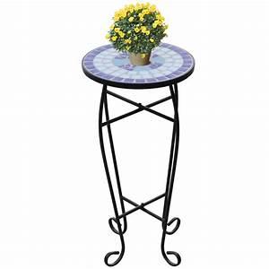 Sellette Pour Plante : table d 39 appoint motif mosa que sellette mosa que support ~ Premium-room.com Idées de Décoration