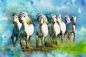 Horse Paintings 006 Painting by Catf