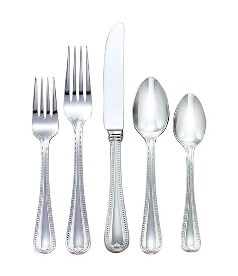 flatware lenox jewel stainless steel dillards traditional dillard zoom