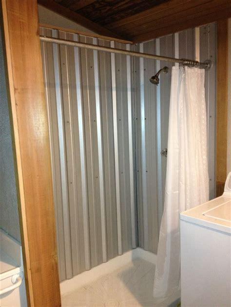 metal bathroom best 25 galvanized shower ideas on pinterest rustic shower tin shower walls and farmhouse saunas