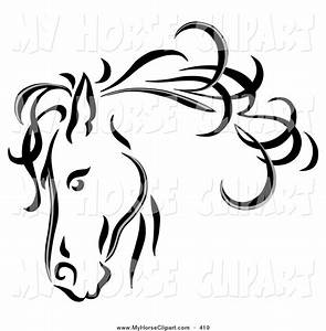 Cute Unicorn Clipart Black And White - ClipartXtras