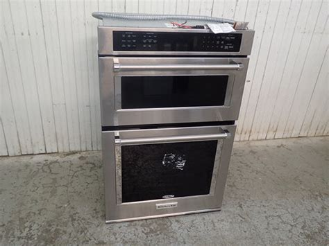 Kitchen Aid Convection Oven And Microwave Stacked Oven