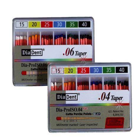 DiaDent Gutta Percha Pro Taper F5 Box of 60: Gutta Percha (GP) Points: Deal32.com
