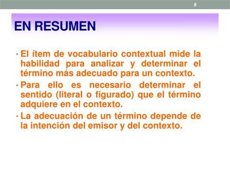 ppt vocabulario contextual powerpoint presentation id