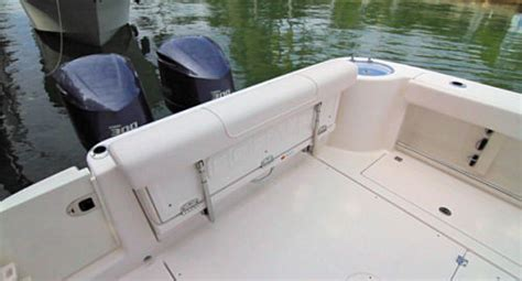 Boat Aft Bench Seat by Robalo R305 2014 Marine Powered