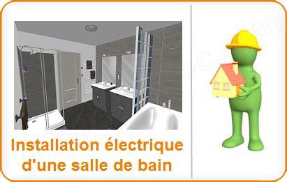 installation electrique salle de bain salle deau