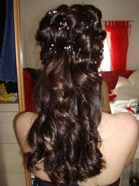 half up hairstyles for long hair elle hairstyles