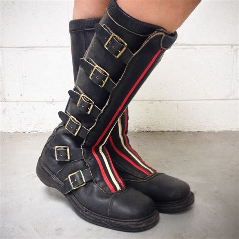 vintage motocross boots wheelsport rugged rider boots moto lady