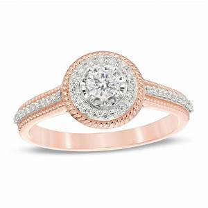 38 CT TW Diamond Frame Vintage Style Engagement Ring